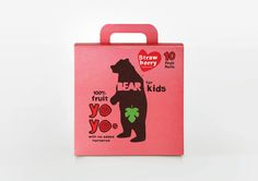 Dried fruit packaging for Bear designed by B and B Studio.