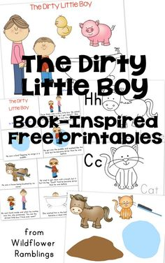 The Dirty Little Boy by Margaret Wise Brown {free book-inspired printables!} via Wildflower Ramblings