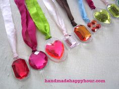DIY Princess Necklaces for a Craft Birthday Party