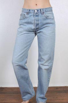 Vintage Levis 501 Jeans // 80s Denim Pants Straight Leg High