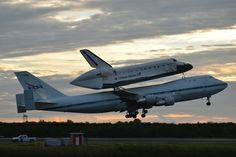 Space shuttle Endeavour, atop its Shuttle Carrier Aircraft, takes off on NASAs last-ever ferry flight from the Kennedy Space Center in Florida on Sept. 19, 2012. Endeavour is headed for Los Angeles, Calif., to be put on public display at the California Science Center.