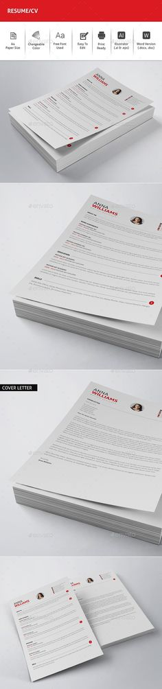Clean Resume CV Resume cv, Resume layout and Perfect resume - resume layout template