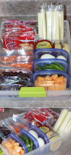Stock the fridge with a smart snack bin - 16 DIY Kitchen Projects to Organize Your Healthy Foods.