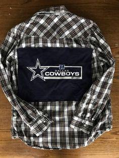 Dallas Cowboys Flannel   Tailgate   Game Day Shirt   NFL   Women s Football  Shirt   Football Mom 814fffc56