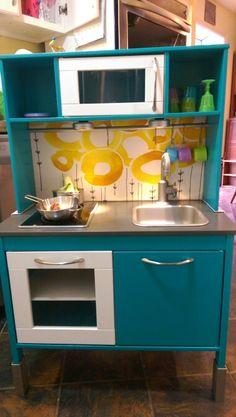 Ikea duktig kitchen makeover for Dylan's 3rd birthday