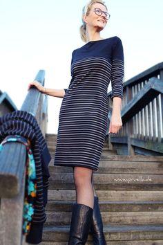 Prülla Kleid aus Streifenliebe vom Stoffbüro - Nähen