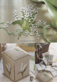 Embroidery on Linen Fabrics Japanese Stitch