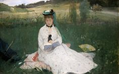 Reading (1873). Berthe Morisot (French, 1841–1895). Oil on fabric. Cleveland Museum of Art. The fashionable woman is the artist's sister, Edma. However, the painting is not a portrait. Morisot's...