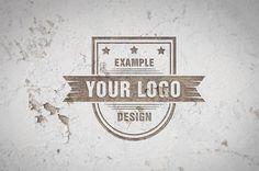 Grunge White Wall Logo Mockup Online Template | ShareTemplates