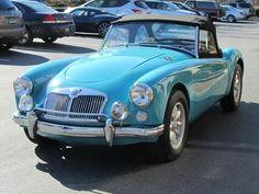 Vintage Cars MGA - same original color as mine but I painted it original MGA off white - British Sports Cars, Classic Sports Cars, Classic Cars, British Car, Porsche Classic, Retro Cars, Vintage Cars, Antique Cars, Ferrari