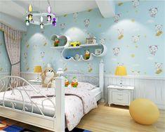 beibehang Cartoon papel de parede 3D non woven wallpaper blue pink lovely children's bedroom wallpaper papier peint wall paper