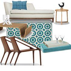 Wood & Turquoise created on ProjectDecor.com