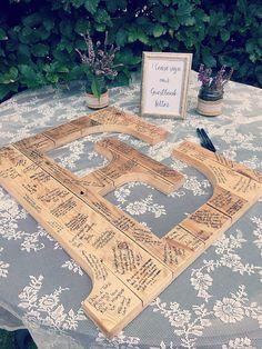 Wedding Guest Book Initial Letter-Wedding Guest Book