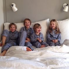 Four babies in my bed. What a wonderful way to start a weekend!