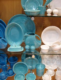 Bakers Bowls and Pie Pans from Fiesta & fiestaware blue color comparison - Google Search | Fiesta Obsession ...