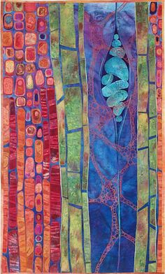"""""""Potential III""""  Fiber Wall Piece  Created by Karen Kamenetzky    I so wish I could  buy this for my wall."""