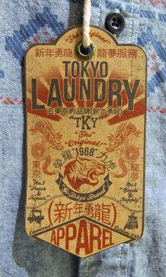 Tokyo Laundry #hangtag