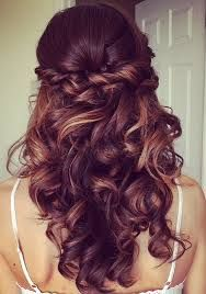 Image result for bridesmaids hairstyles half up half down