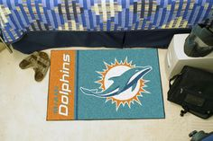 Miami Dolphins Uniform Inspired Starter Rug 20x30