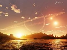 The artist sketch above may represent a suite of planets orbiting a brighter nearby host star, with a potentially unrelated fainter binary system visible in the background. Credit: Regulus36/devianart
