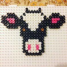 Cow hama beads by hbtvegan