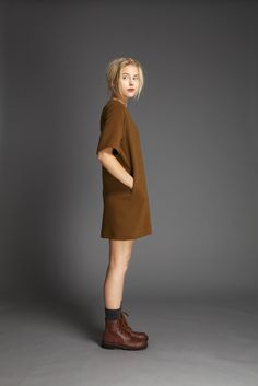 Quilted Wool Imitation College Dress