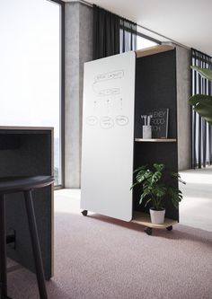 Office Screens, Office Room Dividers, Space Dividers, Diy Room Divider, Office Partitions, Multifunctional Furniture, Office Furniture, Mobile Storage, Mobile Shelving