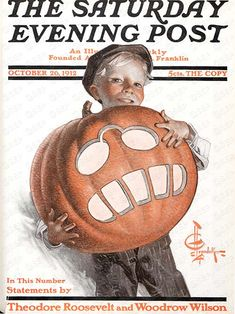 Teddy the Pumpkin by J.C. Leyendecker From October 26, 1912  Saturday Evening Post