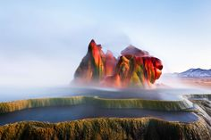 Fly Geyser Nevada, Places Around The World, Around The Worlds, Natural Phenomena, Natural Wonders, Vacation Spots, Vacation Packages, Wonders Of The World, Places To See