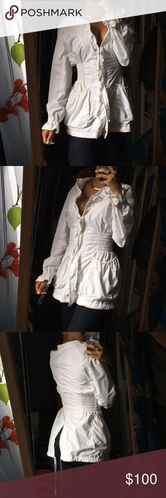 BEBE sport feminine jacket Amazing jacket. Worn once. No flaws of any kind. Stunning. Has detachable hood bebe Jackets & Coats