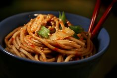 Easy to make spicy soba noodle recipe Noodle Recipes, Pasta Recipes, Yummy Recipes, Yummy Food, Soba Recipe, Soba Noodles, Good Enough To Eat, Japanese Food, Soul Food
