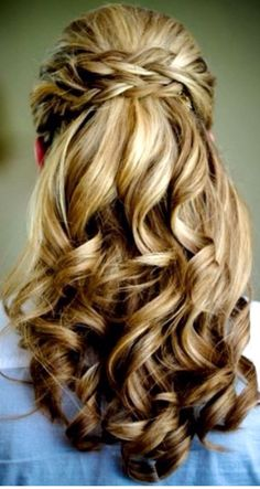 Gorgeous Hair Color, Length and Style.  My dream hair!  Very romantic and feminine.