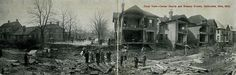 Chillicothe, Ohio, Flood View, Corner of Fourth and Hickory Streets, March 1913 - Panoramic Postcard | Flickr - Photo Sharing!