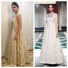Anushka Sharma In Anita Dongre Promoting Ae Dil Hai Mushkil Indian Suits, Indian Attire, Indian Wear, Prom Dresses Blue, Work Dresses, Mirror Work Dress, Cocktail Gowns, Anushka Sharma, Woman Outfits