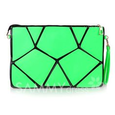 14943bbd90 Party Color Block and Zipper Design Women s Clutch