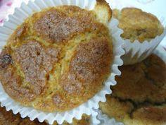 Muffin de Banana (Sem Glúten, sem Lactose e sem Ovos).