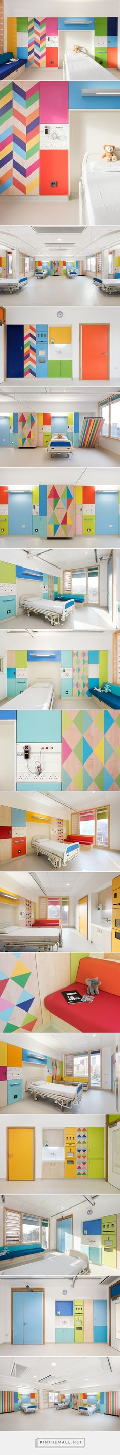 morag myerscough's bold + bright bespoke bedrooms light up sheffield children's hospital - created via https://pinthemall.net