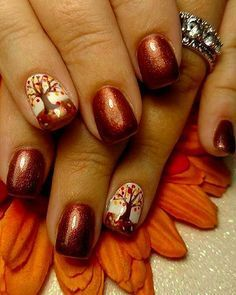 "If you're unfamiliar with nail trends and you hear the words ""coffin nails,"" what comes to mind? It's not nails with coffins drawn on them. It's long nails with a square tip, and the look has. Autumn Nails, Winter Nail Art, Winter Nails, Thanksgiving Nail Designs, Thanksgiving Nails, Beach Nail Designs, Fall Nail Art Designs, Pedicure Nail Designs, Nagellack Design"
