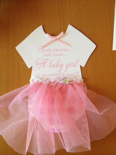 This tutu idea can be adapted for First Holy Communion. Baby Shower invitations