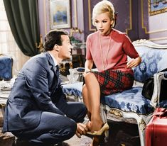 "Dimitris Papamihail and Aliki Vougiouklaki in the movie ""Modern Cinderella"", classic greek cinema, 1965"