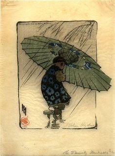 The Family Umbrella: Helen Hyde; 1915