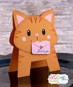 ideas birthday crafts for kids cards for 2019 Cat Cards, Kids Cards, Cards Diy, Arte Punch, Tarjetas Diy, Shaped Cards, Animal Cards, Pop Up Cards, Creative Cards