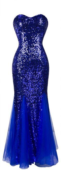 Angel-fashions Women's Mermaid Sleeveless Sequins Ruching Tulle Wedding Dress at Amazon Women's Clothing store: