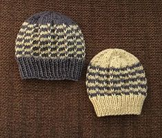 Ravelry: Duet Baby Hat pattern by marianna mel Baby Hat Patterns, Knitting Patterns Free, Free Knitting, Free Pattern, Knit Beanie Hat, Beanies, Baby Hats Knitting, Knitted Hats, Infants