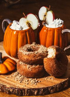 Pumpkin Mugs: Pottery Barn Pumpkin Snack Bowl: Pottery Barn , Pottery Barn Bark Charger: Pottery Barn Bl. Samhain Recipes, Hallowen Food, Autumn Cozy, Autumn Harvest, Autumn Feeling, Happy Autumn, Autumnal Equinox, Autumn Morning, Autumn Leaves