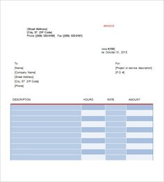 Bill Formats In Word Free Standard Invoice Templates Uk  Standard Invoice Template .