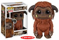 "Pop! Movies: Labyrinth Be careful what you wish for! Jareth, the Goblin King, is no slouch when it comes to granting wishes! Sarah must rely on Worm and the dwarvish Hoggle for help to solve the Labyrinth and save her brother! The playful beast, Ludo, is coming as a super-sized 6"" Pop! Collect the whole line of Labyrinth Pop! figures this September!         Coming in September!"