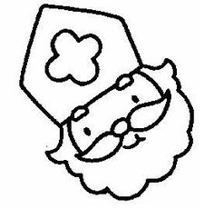 Sint hoofd voor op een Pringel bus of melkpak! Misschien werkt een keukenrol ook al!