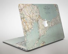 The Vintage Map of Cape Cod Apple MacBook Air or Pro Skin Decal Kit (All Versi - Apple Computer Laptop - Ideas of Apple Computer Laptop - The Vintage Map of Cape Cod Apple MacBook Air or Pro Skin Decal Kit (All Versions Available) Macbook Keyboard Stickers, Mac Stickers, Macbook Decal Stickers, Laptop Decal, Apple Mac Book, Apple Laptop, Mac Book Cover, Stormtrooper Helm, Stickers