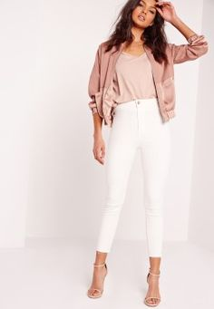 Vice Cropped Jean White